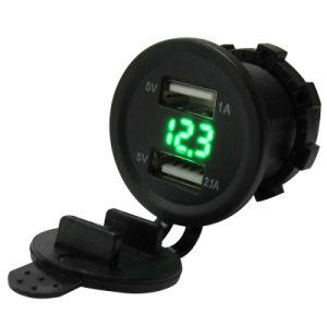 Напряжение 3.1A светодиодный дисплей автомобильного зарядного устройства USB адаптер разъем .