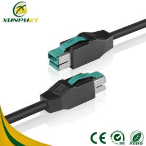 Никелированные подключите кабель USB для питания данных кассового аппарата