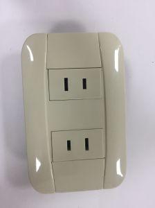 Interruptor de pared eléctrica toma eléctrica de la toma de Toma de corriente eléctrica
