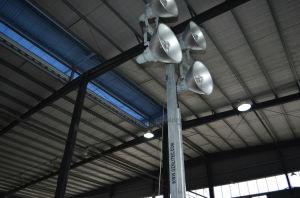 9mのマストパーキンズかKubotaのディーゼル発電機の緊急の構築の移動式照明タワー