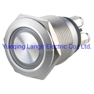 19мм Micro поездки 12V кольцо подсветки водонепроницаемый кнопочный переключатель