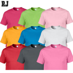 China Wholesale Cheap Plain Tshirt 100% algodón en blanco Logotipo personalizado T- shirts Serigrafía Hombres Mujeres camiseta