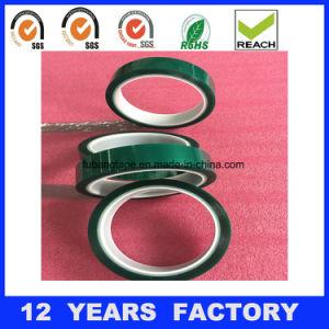 熱い販売! ! ! 幅: 50mmの厚さ: 0.06mmの長さ: 33m緑の単一の味方された高温耐熱性ペットテープ