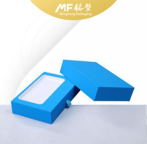 Caja electrónica de cartón de papel azul