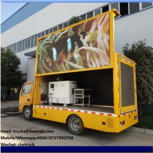 Dongfeng 4X2, pantalla LED de la publicidad móvil exterior carretilla