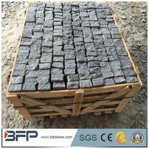 Cobble van het basalt de Betonmolens Lowes van de Oprijlaan van de Steen