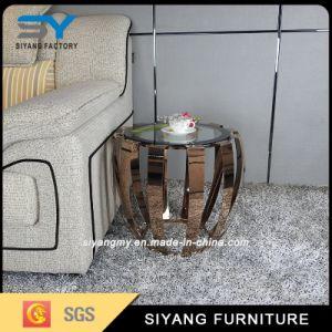 Estrutura em aço inoxidável de Mobiliário de Jardim Mesa de vidro