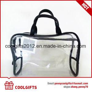 透過PVCを持つMakeup Wash Cosmetic Bag昇進の女性