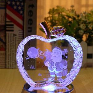 Di cristallo di colori Apple per il regalo di natale