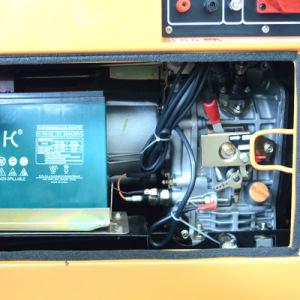 노란 색깔 가솔린 발전기 세트