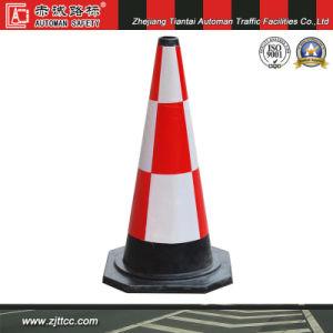 70cm reflète la sécurité du trafic cône d'avertissement de caoutchouc industriels (CC-A14)