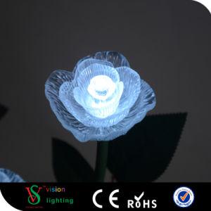 Venta caliente decoración exterior LED Lámpara de Rosa