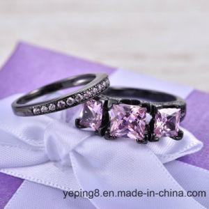 Rosa Boutique de Lujo joyas de plata Anillo de apilamiento