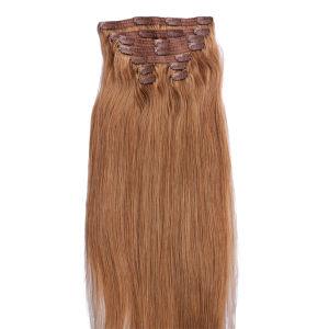 Xuchangの美の毛の方法安く完全なヘッド10PCS毛の拡張卸売のWeft三重のWeft着色されたOmbreクリップ200グラムのクォードの