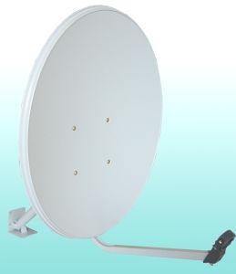 Banda KU 60cm Offset antena parabólica de televisão por satélite no exterior