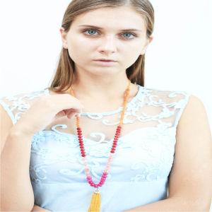新しいデザイン多彩なガラス玉の方法ネックレスの宝石類
