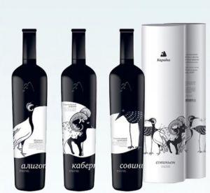 De Fles van het glas voor de Fles van de Whisky van /Alcohol van de Wijn