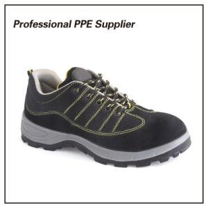 Inyección de poliuretano de cuero auténtico deporte baratos Zapatos de seguridad