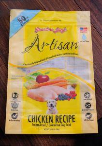 Support en plastique jusqu'sac de nourriture pour animaux de compagnie avec fermeture à glissière