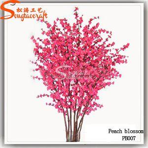 Holiday Decoração Flor de pêssego Artificial Árvore da fábrica