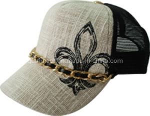 Bordados de moda decoração corrente metálica Leisure Caminhoneiro Cap (TRT008)