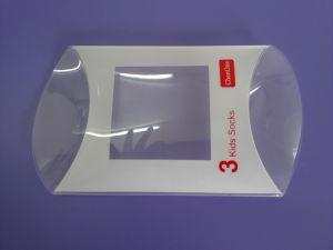 Caisse d'oreiller en plastique PP / PVC / PET personnalisée en plastique transparent (paquet de forme d'oreiller)