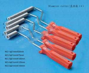 Galvanizado personalizada mango de plástico de color naranja de diámetro 21 mm de diámetro del rodillo de aletas de aluminio para rodillos de laminación de FRP