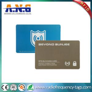 Protection de la carte de crédit Carte de blocage de la RFID pour la sécurité du portefeuille