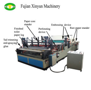 China de rebobinado automático de bobinas de papel higiénico y la máquina perforadora