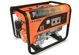 AC Single Phase、220VのJx6500L 5kw Highquality Gasoline Generator