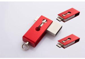 Логотип для мобильных ПК OTG USB флэш-накопитель USB 2.0 с высокой скоростью привода пера для продвижения по службе (ET099)
