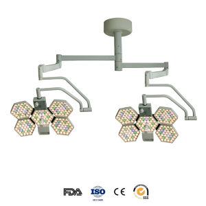 Doble cabeza LED Lámpara quirúrgica con lámparas de Osram (SY02-LED5+5)