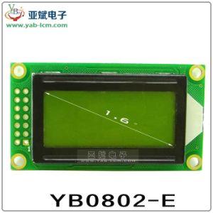 Affissione a cristalli liquidi del carattere di Yb0802e, modulo dell'affissione a cristalli liquidi di LCM