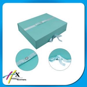 편평한 팩은 주문 순서 접히는 서류상 선물 상자를 받아들인다