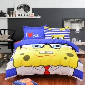 贅沢で一義的なデザインエジプト綿の品質は漫画のMicrofiberの寝室の寝具セットを印刷した