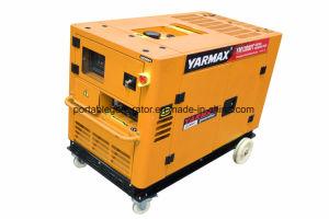 Yarmax 3 генератора комплекта генератора 12kw участка Ce Ym12000t Genset ISO9001 тепловозного тепловозный