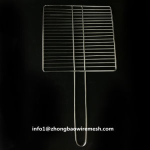 30 BBQ van het Roestvrij staal van de Mand van de Barbecue van X 30 Cm het OpenluchtNetwerk van de Grill met Handvat