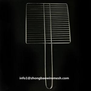 30 x 30 Cm 바베큐 바구니 스테인리스 손잡이를 가진 옥외 BBQ 석쇠 메시