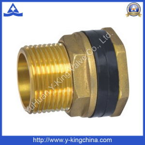 Depósito de Rosca BSP macho de latón Contector Adaptador (YD-6018)