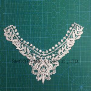 Tessuto di cotone accessorio dell'indumento del collare del merletto della tessile della guarnizione del ricamo del Crochet