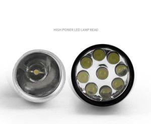 Het creatieve MultiFlitslicht van de Knoop van de Kom van het Kegelen van de Legering van het Aluminium LEDs Zij9LED