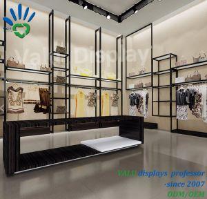 금속 스테인리스 Shopfitting 디자인 옷가게 진열대 또는 진열대