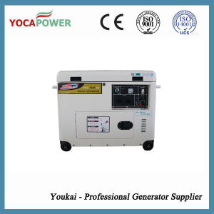 공기에 의하여 냉각되는 전기 5kVA 침묵하는 힘 디젤 엔진 발전기 세트