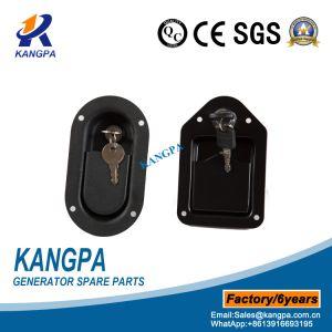 Bloqueo de puertas de armario revestido de color negro para el generador de cubierta