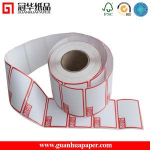 Embalagem preço de fábrica transporte adesivo impresso colorido etiqueta térmica direta
