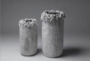 Цемента в средиземноморском стиле Flower Pot