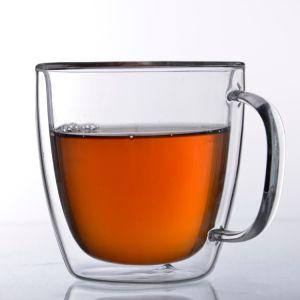 Borosilicat-Kaffeetasse-doppel-wandige Kaffeetasse