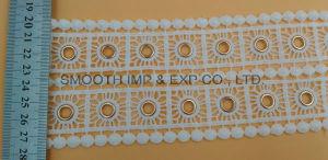 Textiel van de Toebehoren van het Kledingstuk van het Oogje van het Kant van het Borduurwerk van het katoenen Koper van de Stof de Zilveren