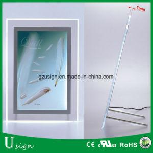 El bastidor de acrílico cristal Recepción Caja de luz LED Publicidad