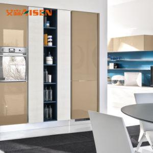 2018 Venda Quente Boa Qualidade padrão europeu moderno Design de armários de cozinha pequena laca
